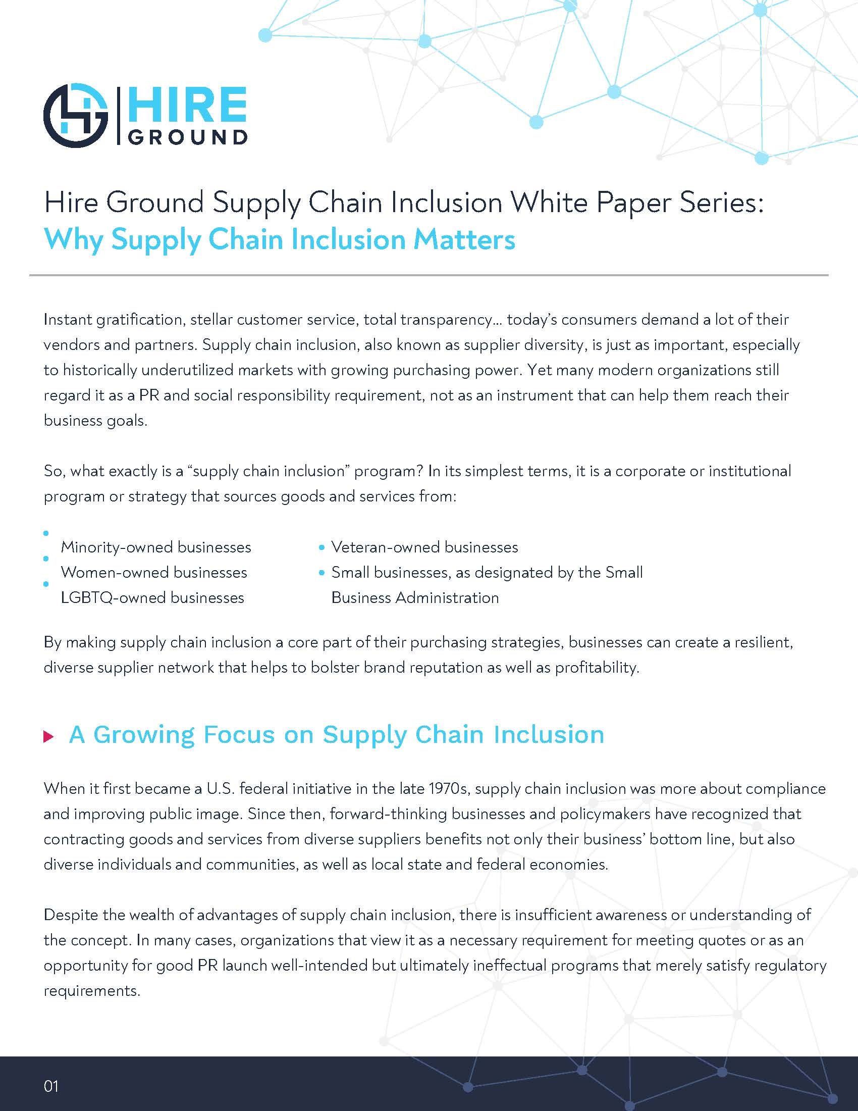 Hire Ground Supply Chain Inclusion White Paper Series Why Supply Chain Inclusion Matters v2.3 (1)_Page_1
